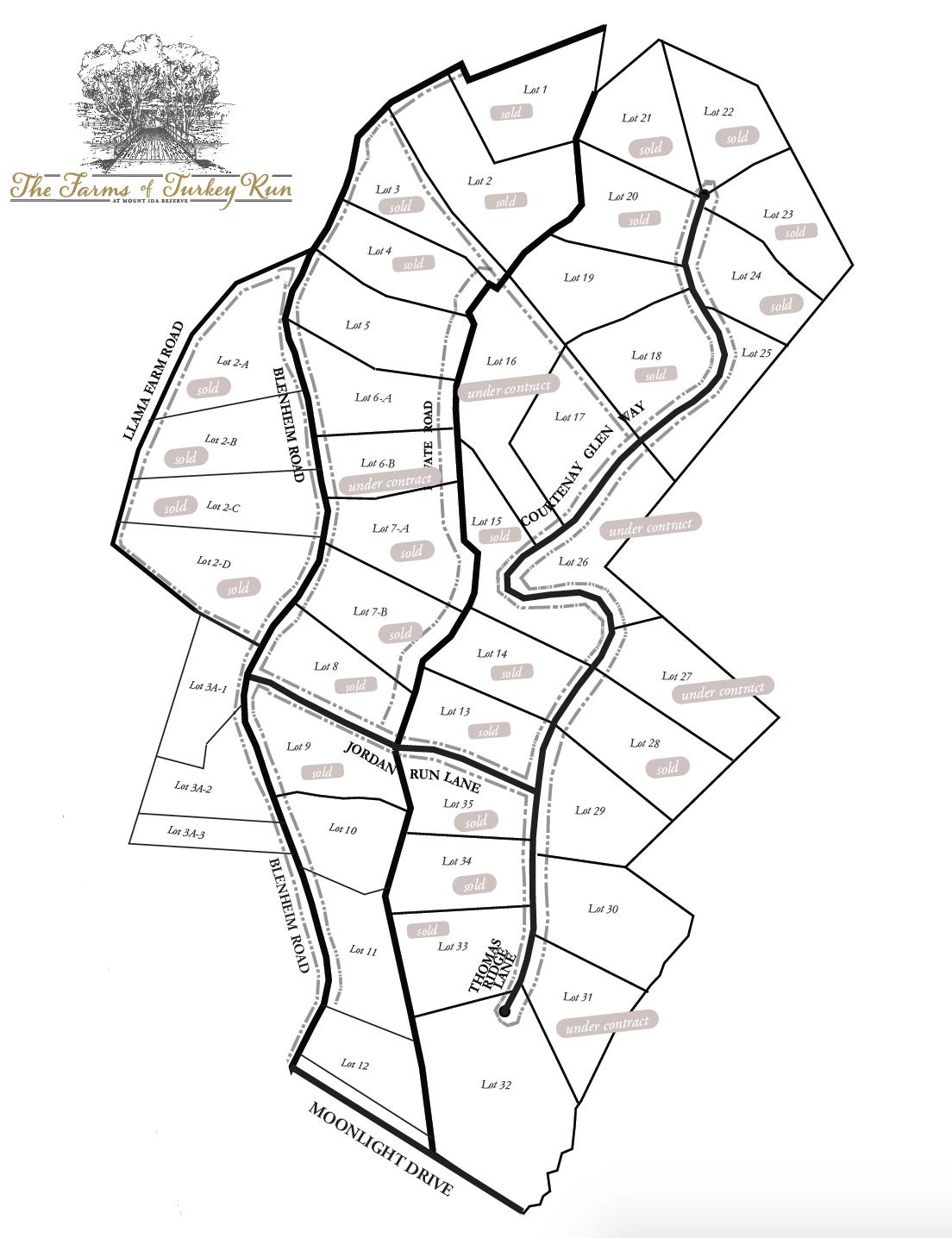 The Farms of Turkey Run map